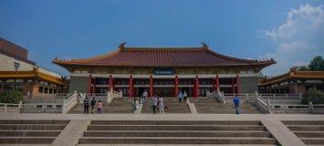 Korridor för Nanjing museum Royaltyfri Bild