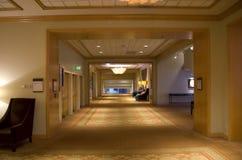 Korridor för lyxigt hotell Arkivbild