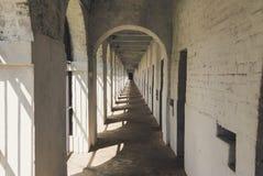 Korridor i den cell- arresten, Port Blair arkivbild