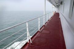 Korridor i en yacht fotografering för bildbyråer