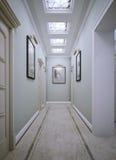 Korridor i klassisk stil Arkivbild