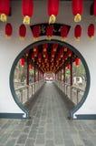 Korridor i traditionell kinesisk stil royaltyfri fotografi