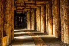 Korridor i Wieliczka fotografering för bildbyråer