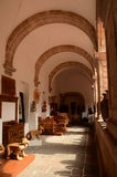 Korridor im Haus des Handwerks in Morelia stockfoto