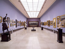 korridor krakow poland för konsttorkdukegalleri Arkivbilder