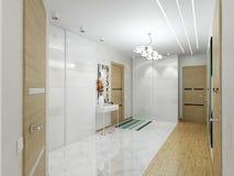 Korridor med dörrar Royaltyfria Bilder
