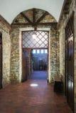 Korridor med stenväggar Royaltyfri Bild