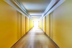 Korridor mit Bewegungsunschärfe Stockfotos