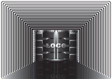 Korridor mit Lichtern Lizenzfreie Stockbilder