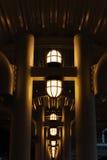 Korridor på natten Fotografering för Bildbyråer