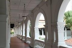 Korridor på tombolor hotell, Singapore fotografering för bildbyråer