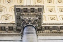 Korridor på Vaticanenmuseet i Vaticanet City, Vaticanen royaltyfri fotografi