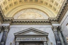 Korridor på Vaticanenmuseet i Vaticanet City, Vaticanen arkivfoto