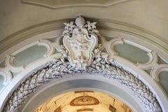 Korridor på Vaticanenmuseet i Vaticanet City, Vaticanen royaltyfria foton