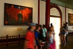 Korridor-Präsident Büro-China Nanjing Lizenzfreies Stockfoto