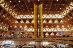 Korridor Pragati Maidan för handelmässa Arkivbild