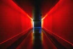 korridor som min annan fotoportföljred ser Arkivbilder