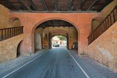 Korridor till och med det Galle fortet royaltyfri bild