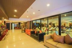 Korridoren av ett hotell Arkivfoton