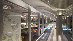 Korridorer för Istanbul flygplatsöverföring lager videofilmer