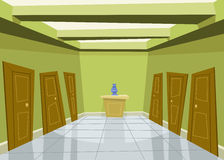 korridorgreen Royaltyfria Foton