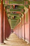 korridorkorea slott fotografering för bildbyråer