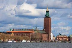 korridorstockholm town Arkivfoto