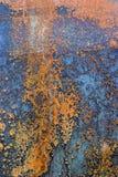 korroderad bakgrund rostade Arkivfoto