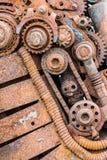 Korrodierte getragene heraus Details der alten industriellen Ausrüstung Lizenzfreie Stockbilder
