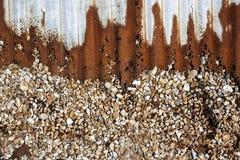 Korrugerad bakgrund Arkivbild