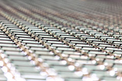 Korrugerad bakgrund för zinkplattatak Royaltyfri Foto