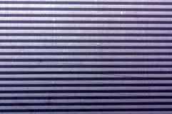 Korrugerad blå yttersida för metallplatta Royaltyfri Bild