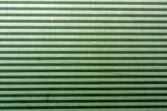 Korrugerad grön yttersida för metallplatta Fotografering för Bildbyråer