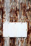 korrugerad metall Arkivfoto