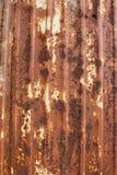 Korrugerad metallplatta som är horisontal Arkivbilder