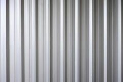 Korrugerad metalltexturyttersida Arkivfoton