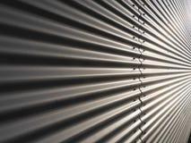 Korrugerad metallvägg fotografering för bildbyråer