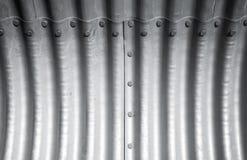 Korrugerad metallvägg, abstrakt bakgrund Royaltyfria Foton