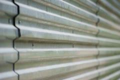 Korrugerad metallyttersida. Arkivbilder