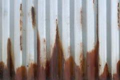Korrugerad rosta metall Royaltyfria Bilder