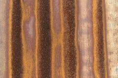 Korrugerad textur för metallark Royaltyfria Foton
