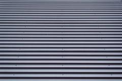 Korrugerad textur för metallark Arkivfoto