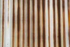 Korrugerad textur för metallark Royaltyfri Foto