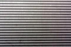 Korrugerad yttersida för metallplatta Arkivfoto
