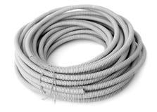 korrugerat rør för kabel fotografering för bildbyråer