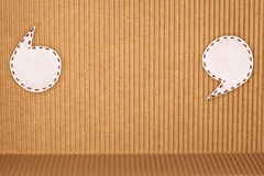 korrugerat tygpapper för bubbla Arkivfoto