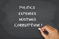 Korruption der Politik Stockbild