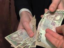 Korruption i Ukraina arkivbild