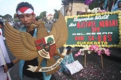 Korruptionsbekämpfungs- Demonstration in Indonesien Lizenzfreies Stockfoto