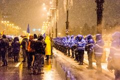 Korruptionsbekämpfungs- Protest in Bukarest Lizenzfreies Stockbild